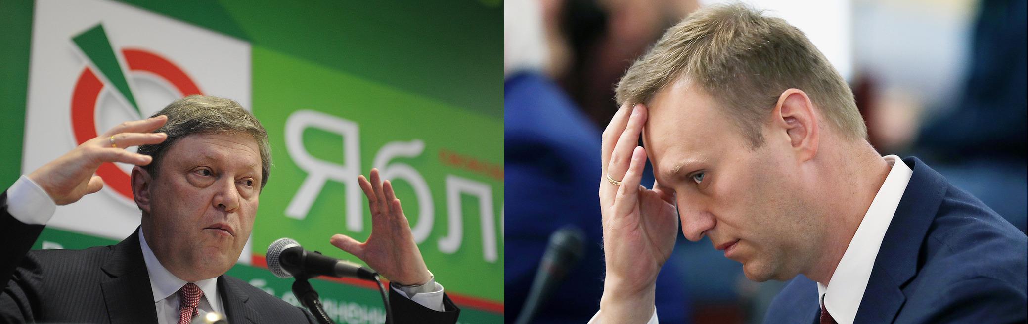 Yavlinsky dropped Navalny